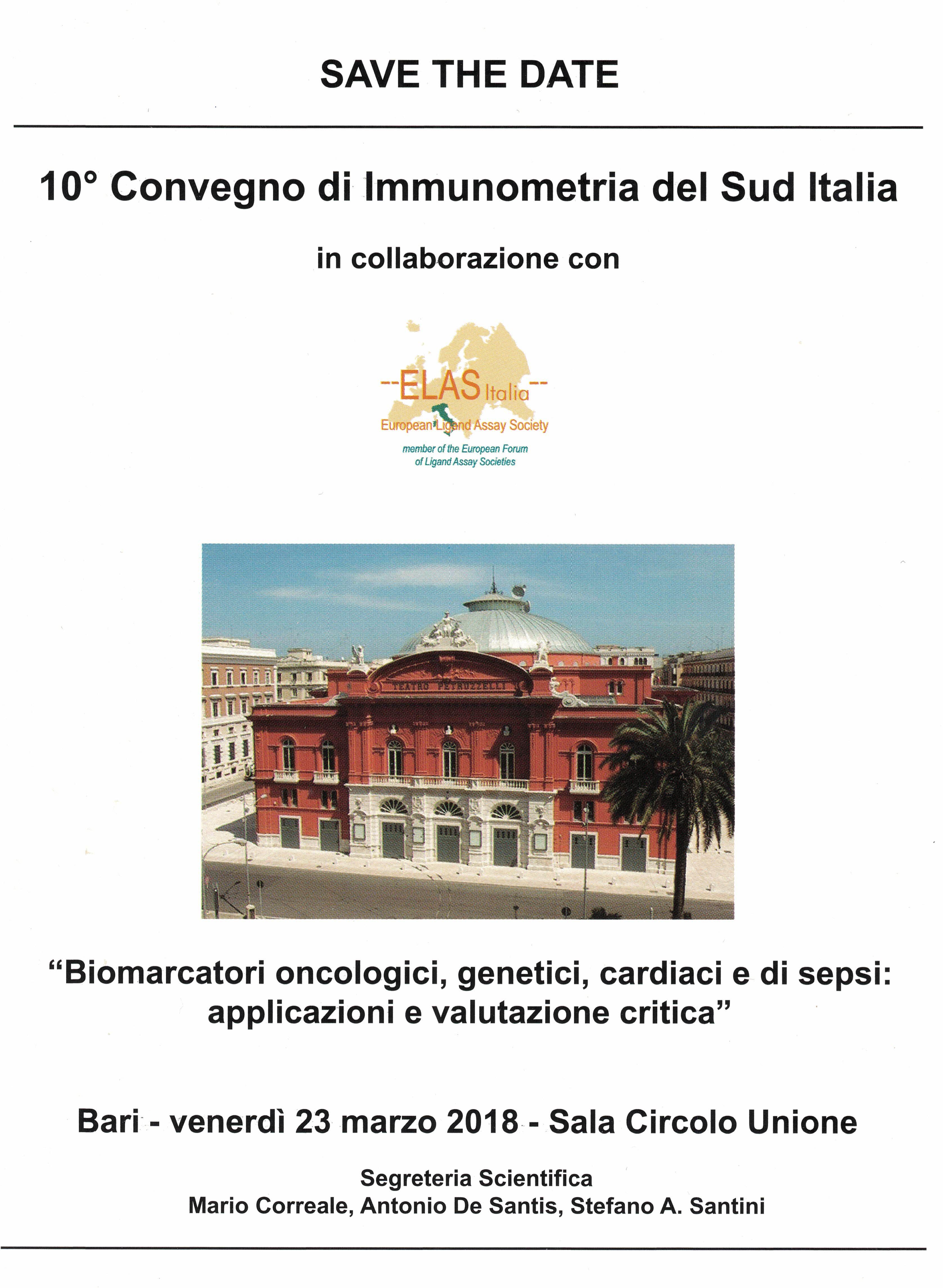 10° Convegno di Immunometria del Sud Italia