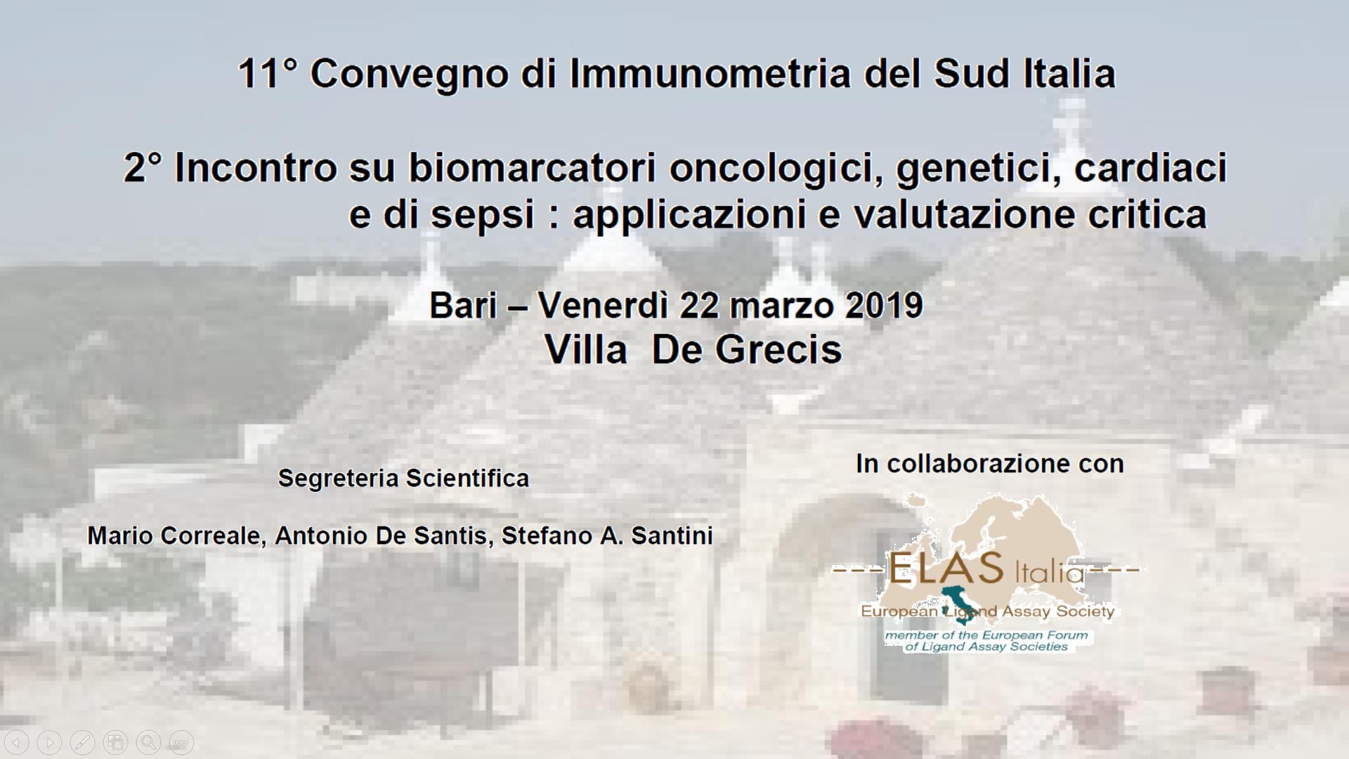 11° Convegno di Immunometria del Sud Italia
